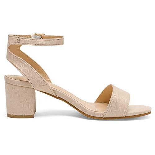 Women's Open Toe Ankle Strap Low Block Chunky Heels Sandals Party Dress Pumps Shoes