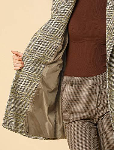 Women's Double Breasted Raglan Sleeve Winter Trench Plaid Coat