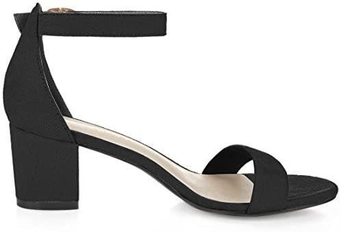 Women's Open Toe Block Heel Ankle Strap Sandals