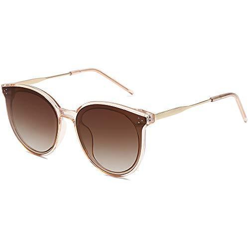 Retro Round Sunglasses for Women Oversized Mirrored Glasses DOLPHIN SJ2068