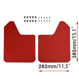 Universal Red Racing Mud Flaps Splash Guards Mudguards For Peugeot FIAT Citroen VW AUDI Ford Renault Car Van Pickup