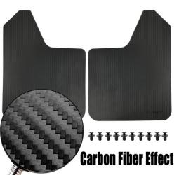 Universal Carbon Fiber Effect Mud Flaps Car SUV Pickup Splash Guards Mudguards Mudflaps For Ford Subaru Nissan Toyota VW Suzuki