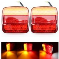 Red Triangle Warning Reflectors for Van Truck Trailer Tail Light Stop Indicator