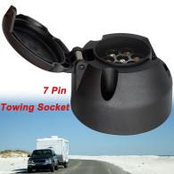 7 Pin Towbar Towing Plugs Truck RV Caravan Socket Trailer Connector 12V