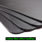 4pcs Carbon Fiber Front Rear Set Universal Mud Flaps Splash Guards Mudguards Mudflaps Car Auto Van SUV Pickup
