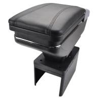 Universal Armrest Car Arm Rest Center Centre Console Rotatable Storage Box Black
