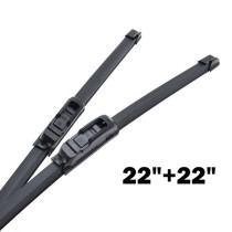 Front Windshield Windscreen Wiper Blades 22'' 22''  2Pcs Car Soft Rubber