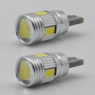 Xukey 2pcs 3W 12VWhite Car ERROR FREE Led Lights  Clearance Parking Lamp Auto Wedge Signal Bulbs
