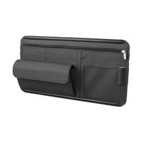 Car Sun Visor Organizer Interior Pocket Pen Glasses Leather Storage Bag Holder