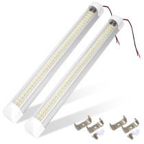 2Pcs 108 LED Car Interior White Strip Light