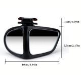 Right Side Car Blind Spot Mirror 360 Degree Rotation Adjustable Reversing Tool