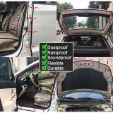 2M Big D Shape Car Door Window Trim Edge Moulding Rubber Weatherstrip Seal Strip