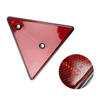 2X Red Rear Reflectors Triangle Reflective