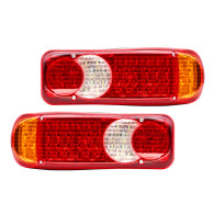 2x 46 LED Truck Tail Light Bar Turn Signal Brake Reverse Running Taillight
