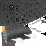 14.5-15.5  Universal Steering Wheel Cover Wood Leather Custom DIY Car Seat