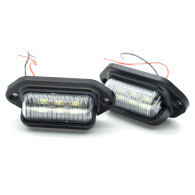 2 Pcs 6 LEDs 12V/24V License Plate Light Lamp Waterproof Taillight