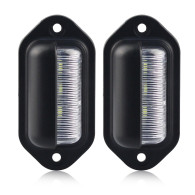 Universal LED License Number Plate Light Lamps For Car Truck SUV Trailer Lorry