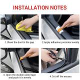 (2Meter) V Shape Car Side Door Seal Window Sealing Strip Rubber Hollow Weatherstrip Universal