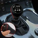 5 Speeds Universal Manual Car Shifter Leather Stitche Gear Stick Shift Knob Red