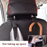2Pcs Back Seat Headrest Hooks, Black