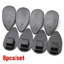 8pcs Car Floor Mat Clips Carpet Retainer Universal Black Fixing Holders Grips