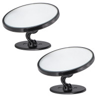 2pcs 360° Blind Spot Round Convex Mirror Rear Side View Wide Angle Stick Parking