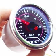 Universal Car 2  52mm Gauge Turbo Boost Voltmeter Pressure Bar 12V LED Digital Meter