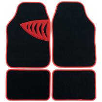 Carpet Floor Mat Set Car & Door Universal Shark Gill Pattern Cover Clips