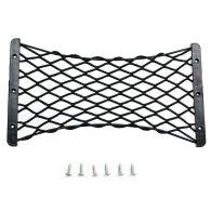 35*18.5CM Universal Car Bags Storage Net Auto Luggage Box Network Car Black
