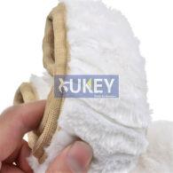 3pcs Car Steering Wheel Cover Handbrake Protector Plush Fur Fluffy Gear Knob