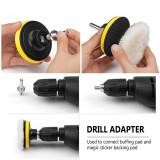 Buffing Polishing Pad Drill Adapter Wheel Waxing Pad For Car Metal Polisher 6