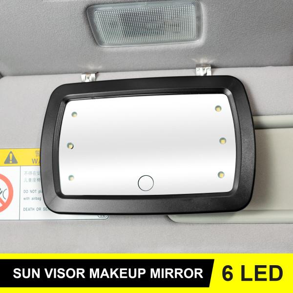 Car Sun Visor vanity Mirror Makeup Touch Cosmetic Sun-shading Mirror LED Lights