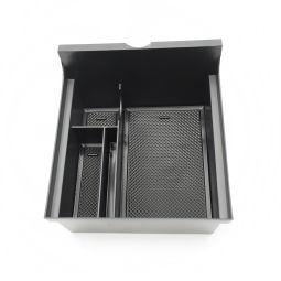 Center Console Organizer Tray Armrest Storage Box Pallet Bin Glove Case Holder For Tesla Model 3