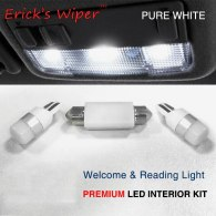 3pcs For VW Caddy Map Reading Light PREMIUM Upgrade 3030 SMD LED Lamp Bulbs Car