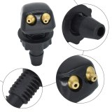 2x Universal Front Windshield Washer Wiper Nozzle Sprayer Sprinkler Water Spout Outlet For Toyota Mazda Hyundai