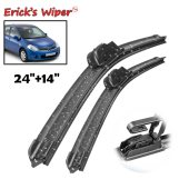 LHD Front Wiper Blades For Nissan Tiida C11 2004 - 2012 Windshield Front 24 +14