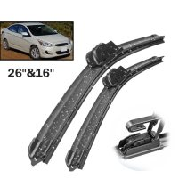 Front Wiper Blades For Hyundai Accent RB 2012 - 2016 2017 Windshield Windscreen Front Window 26 +16