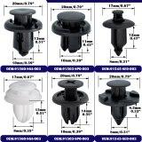 180x 6 Sizes Auto Fastener Car Body Push Pin Rivet Trim Clips Bumper Fender Retainer For Honda Civic Accord CR-V