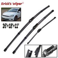 LHD Wiper Front Rear Wiper Blades Set For VW Golf MK 7 2012- 2018 2017 2016 Windshield 26 18 11