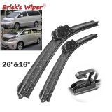 Front Wiper Blades For Toyota Alphard AH10 AH20 2002 - 2015 Windshield 26 +16