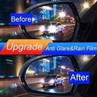 2Pcs/Set Car Universal Anti-Glare Mist Mirror Soft Film Rainproof Waterproof Protective Rain Shiels Film Sticker