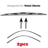2PCS Insert Soft Rubber Strip Refill For Metal U-type Wiper Blades 6mm/8mm 14  16  22  24  26