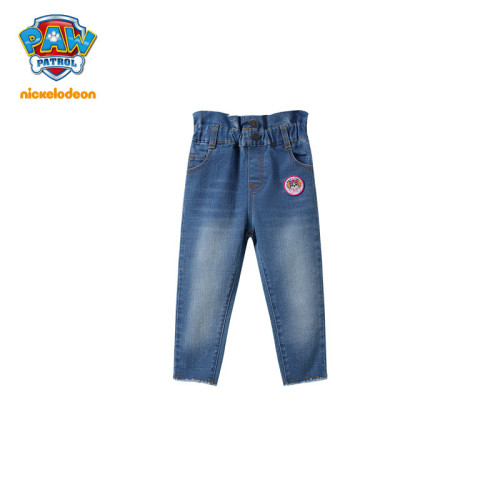 PAW Patrol Girls High Waisted Jeans Cropped Pants