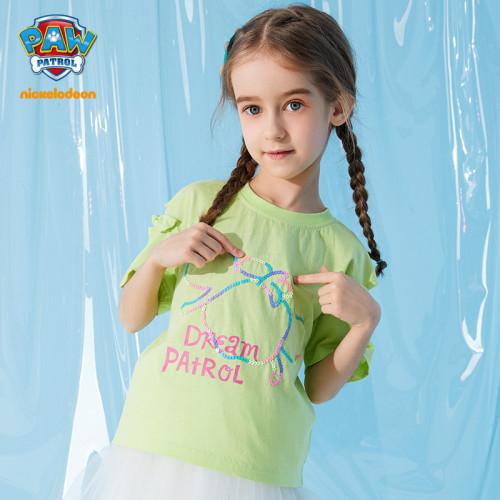 PAW Patrol Girls Cotton T-shirt Loose Top Summer