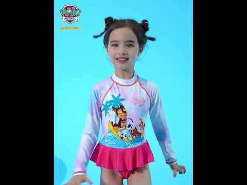 PAW Patrol Girls One-Piece Long Sleeve Swimsuit Lace