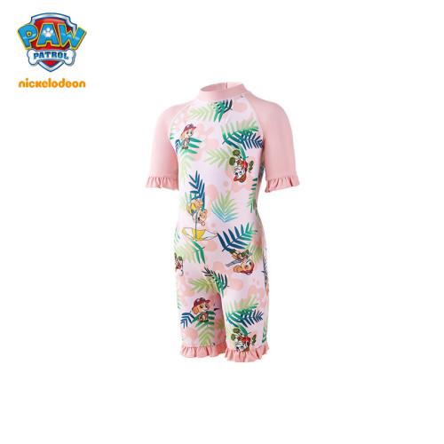 PAW Patrol Girls One-Piece Swimsuit Lace Sleeves Princess Swimwear