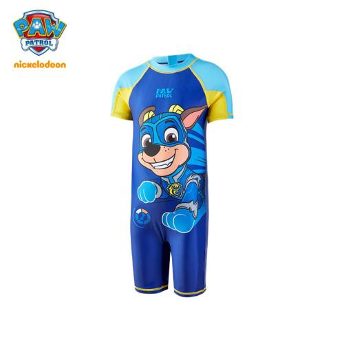 PAW Patrol Kids Swimsuit One-piece Short-sleeved Five-point Pants Large Pattern Cartoon Swimwear