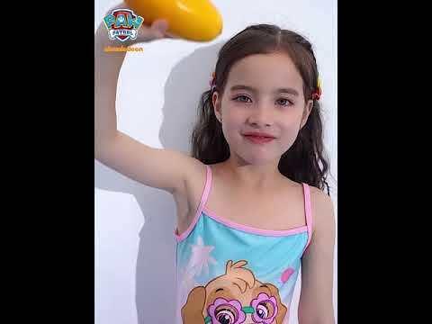 PAW Patrol Girls Swimsuit Sling Triangle One-piece Cartoon Princess Lace Swimwear