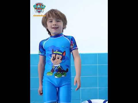 PAW Patrol Boys One-piece Swimsuit Cartoon Short-sleeved Swimwear