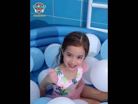PAW Patrol Girls One-Piece Triangle Mesh Swimsuit Princess Sleeveless Swimwear